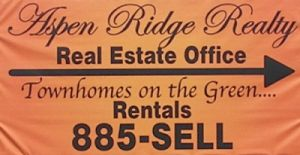 Aspen Ridge Realty Office Sign